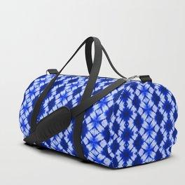 indigo shibori print Duffle Bag