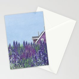 purple Home Stationery Cards