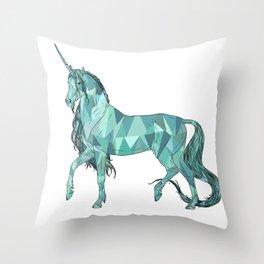 Unicorn prism Throw Pillow