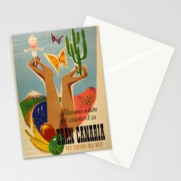 old poster Gran Canaria Stationery Cards