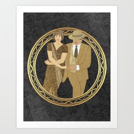 Cajun two step dance wreath Art Print