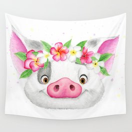 Exotic Pig Wall Tapestry
