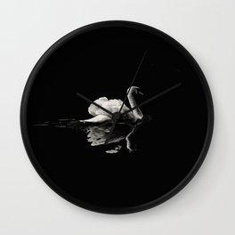 Dramatic Swan Wall Clock