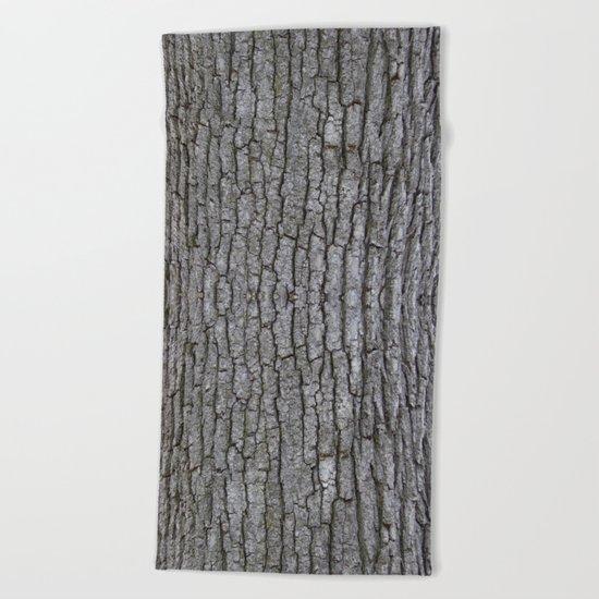 white oak bark Beach Towel