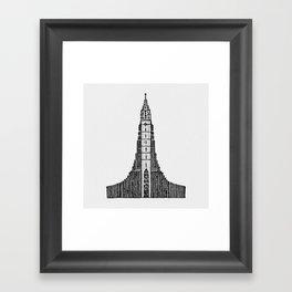 Hallgrimskirkja (Icelandic Cathedral) Framed Art Print