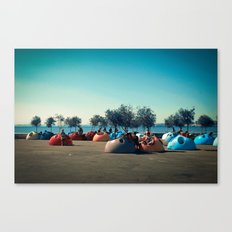 colors near the river Canvas Print