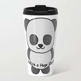 Panda says you're a huge cunt Travel Mug