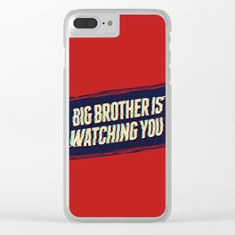 Big Brother is Watching You Clear iPhone Case