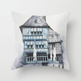 Dinan, Brittany Throw Pillow
