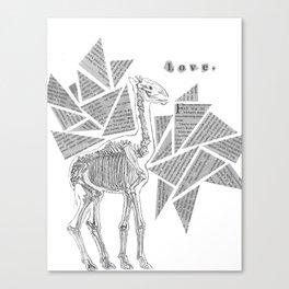 Skeletal Giraffe Canvas Print