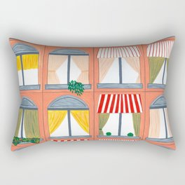 Peach Building Rectangular Pillow