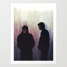 Young men dead Art Print