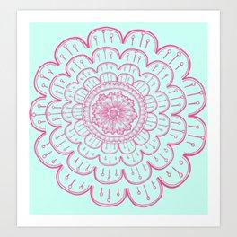 blue&pink Art Print