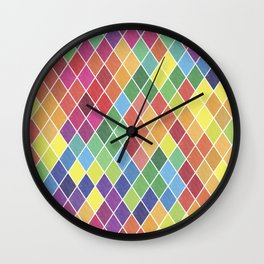 Watercolor Geometric Pattern II Wall Clock