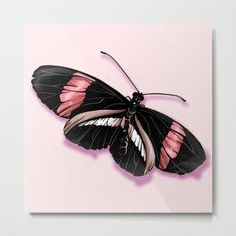 Papillon rouge et noir Metal Print