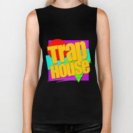 Trap House Square Logo Biker Tank