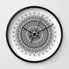 Skull Mandala Wall Clock