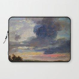 Cloud Study Over Flat Landscape - Digital Remastered Edition Laptop Sleeve
