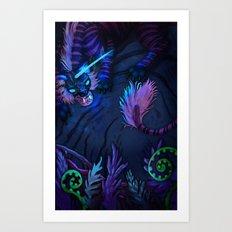 Tiger Unicorn Art Print