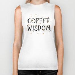 Coffee Wisdom Biker Tank
