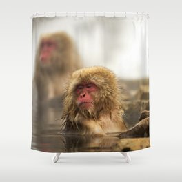 Snow Monkeys on Hot Spring Shower Curtain