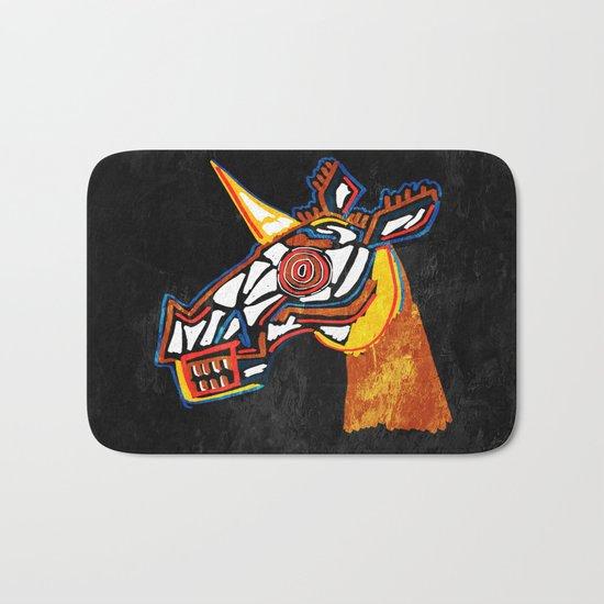 Basquiat Skull Unicorn Bath Mat
