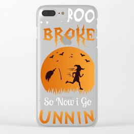 Halloween Shirt Gift for Runners Joggers Clear iPhone Case