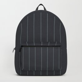 Gray with Gray Pinstripes Backpack