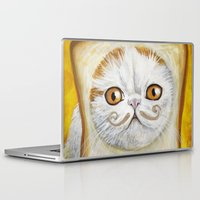 snoopy Laptop & iPad Skins featuring Snoopy aka Breadcat - Cats with Moustaches by Megan Mars
