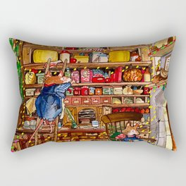 Christmas with Mice Rectangular Pillow