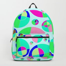 Bubble pink & green Backpack