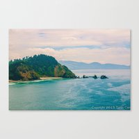 west coast Canvas Prints featuring West Coast by ToniC Art