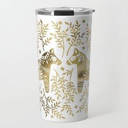 Swedish Dala Horses – Gold Palette Travel Mug