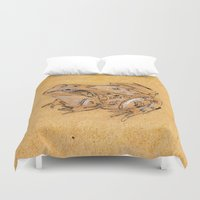 frog Duvet Covers featuring Frog by Nadezhda Shoshina