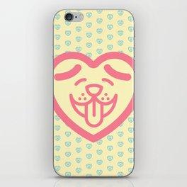 Puppy Love (Pink) iPhone Skin