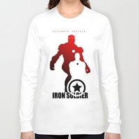 league Long Sleeve T-shirts featuring Justice League by metalcharisma