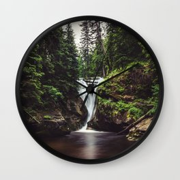 Pure Water - Landscape and Nature Photography Wall Clock