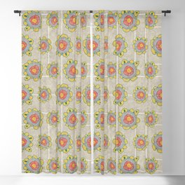 Growing - Pinus 1 - plant cell embroidery Blackout Curtain