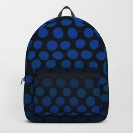 Slate Blue and Black Dots Ombre Backpack