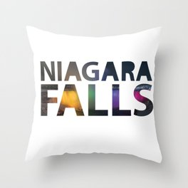 Niagara Falls Three Waterfalls Throw Pillow