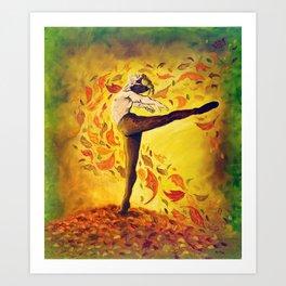 Autumnal Spirit by Mary Bottom Art Print