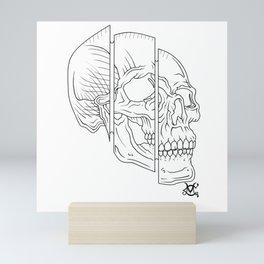 Split Skull Sectional Mini Art Print
