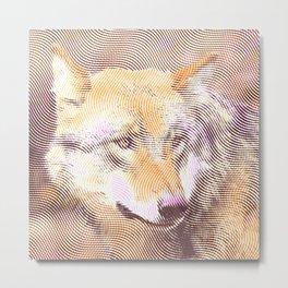 Halftone pixel fun Wolf Metal Print