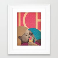 ice cream Framed Art Prints featuring ice cream by Marco Puccini
