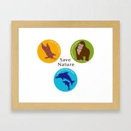 Save Nature_02 Framed Art Print