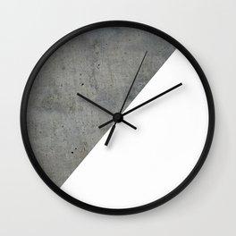 Geometrical Color Block Diagonal Concrete Vs White Wall Clock