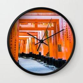 Fifty shades of orange - Senbon Torii, Kyoto Wall Clock