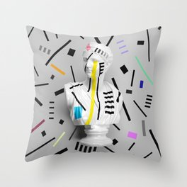 The Geometry of the Viewer (Confetti Edition) Throw Pillow