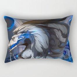 Dragon - The silver king Rectangular Pillow