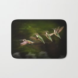 Humming Bird in Flight Bath Mat